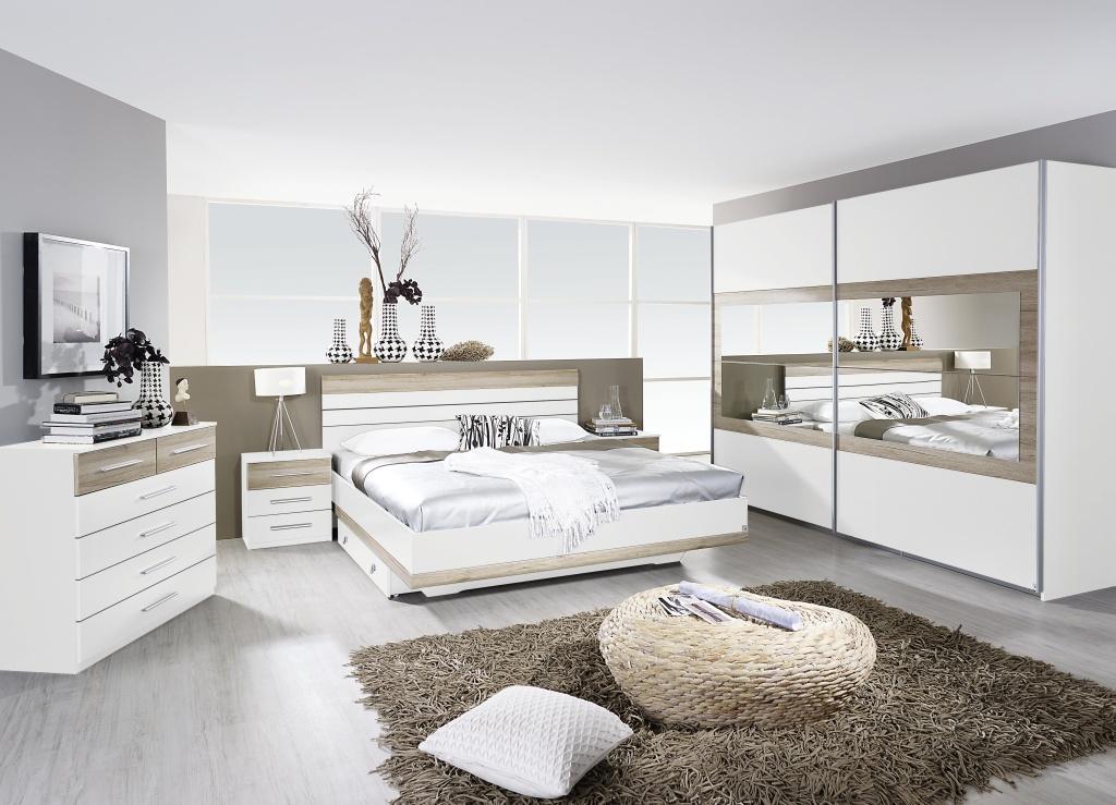 komplettschlafzimmer tarragona 4 teilig bett schrank schlafzimmer wei eiche ebay. Black Bedroom Furniture Sets. Home Design Ideas