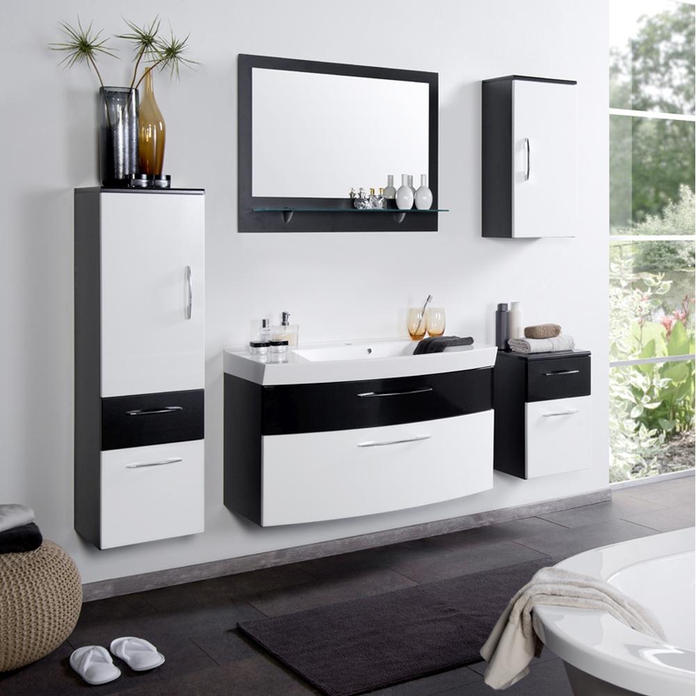 badezimmer hochschrank anthrazit mit spiegel. Black Bedroom Furniture Sets. Home Design Ideas