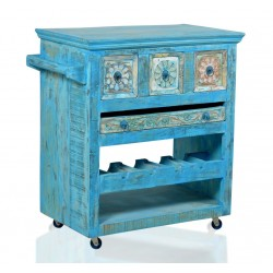 Küchenwagen Blue Altholz