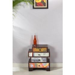 Kommode Wood & Textile braun 50 x 33 x 60 cm
