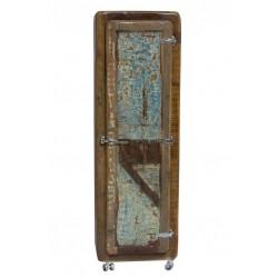 Massivholzschrank Fridge Echt Altholz bunt lackiert 165 x 60 cm
