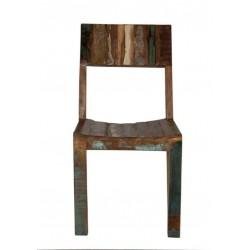 2er Set Holzstuhl Fridge Echt Altholz bunt lackiert