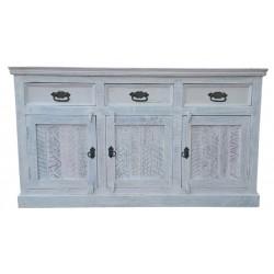 Sideboard White weiß 140 x 40 x 80 cm