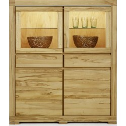 Highboard Max Wildeiche massiv 129x146 cm