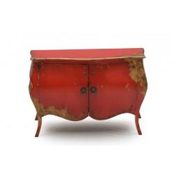 Kommode Pompidou rot 120 x 50 x 81 cm