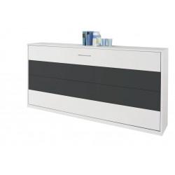 Querklappbett  ALBERO-EXTRA alpinweiß / grau-metallic