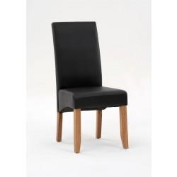 2er Set Vollpolsterstuhl schwarz 49 x 60 x 106,5 cm Beine Eiche