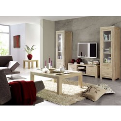 Couchtisch Scott Eiche massiv white wash 55x55 cm
