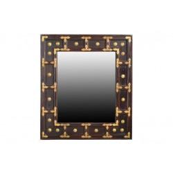 Spiegel Vasco braun / gold 70 x 5 x 80 cm
