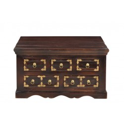 Couchtischtruhe Vasco braun 90 x 90 x 47 cm