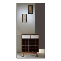 Weinregal Sixties weiß/braun 60 x 35 x 80 cm