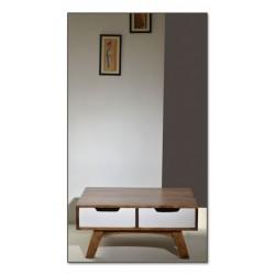 Couchtisch Sixties weiß/braun 80 x 80 x 35 cm