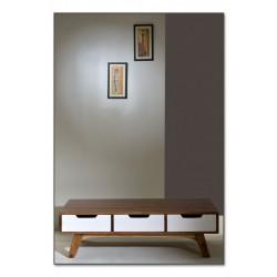 Couchtisch Sixties weiß/braun 120 x 70 x 35 cm