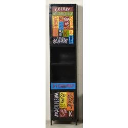 Hochschrank Colore mit 2 Türen und 2 offenen Fächern