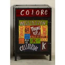 Kommode Colore mit 1 Schublade und 1 Türe