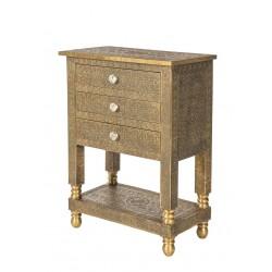 Telefontisch Brass mit 3 Schubladen