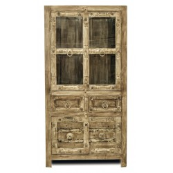 Vitrine Jaipur aus recyceltem Altholz 185 x 95 cm
