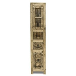 Hochschrank Jaipur aus recyceltem Altholz 190 x 45 cm