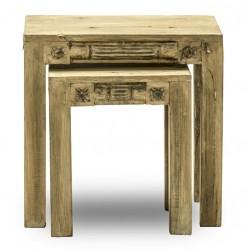 2 Satz Beistelltisch Jaipur  recyceltem Altholz