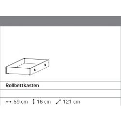 Rollbettkasten grau-metallic für Rauch-Betten
