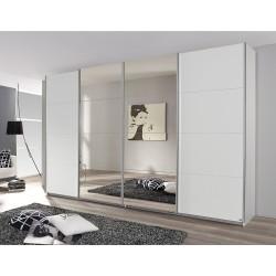 Kleiderschrank Syncrono A alpinweiß / Spiegel verschiedene Größen