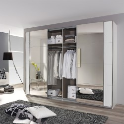 Kleiderschrank Syncrono C alpinweiß / Spiegel verschiedene Größen